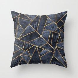 Soft Blue Stone Throw Pillow
