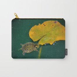 Baby Turtle And Lily Pad Carry-All Pouch