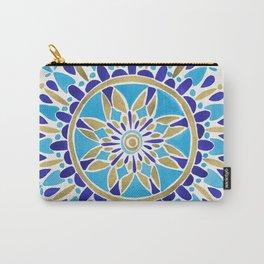 Royal Blue Mandala Carry-All Pouch