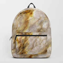 Gold Streaked Marble Backpack