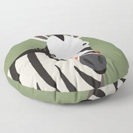 Zebra, Animal Portrait Floor Pillow