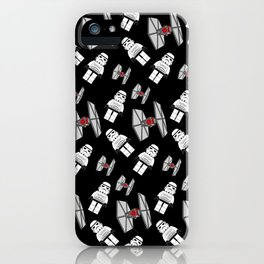 Tie Fighters-Black iPhone Case