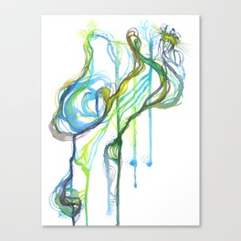 Aqua Trickle Canvas Print