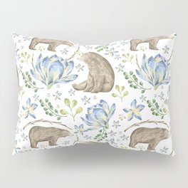 Bears in Blue Flowers Pillow Sham