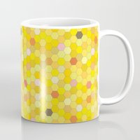 honeycomb Mugs featuring Honeycomb by Nikky