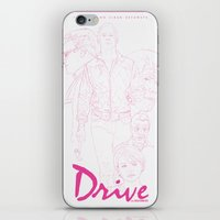 drive iPhone & iPod Skins featuring Drive by Matthew Bartlett