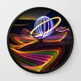 SATURN SURFING Wall Clock