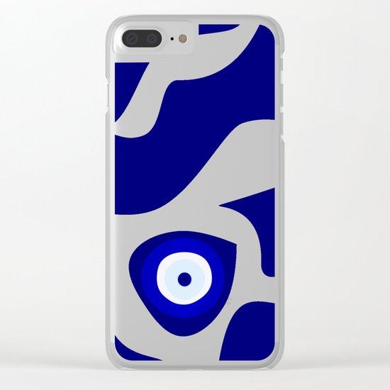 Evil Eye Lava Pattern Clear iPhone Case
