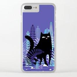 The Ferns (Black Cat Version) Clear iPhone Case