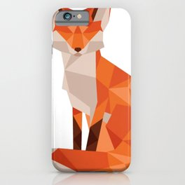 Low Poly Fox iPhone Case