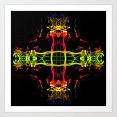Smoke Cross 3 Art Print