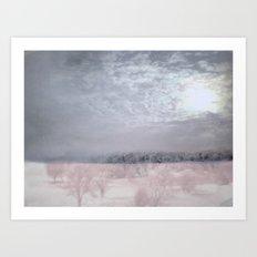Moonlight's abstention ~ Winter abstract Art Print