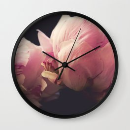 Dreaming Peonies Wall Clock