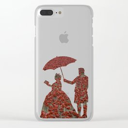 Poppy Queen Clear iPhone Case