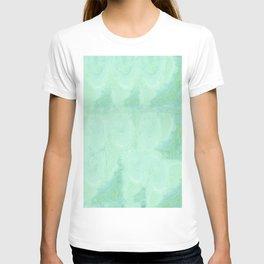 Blue Gray Cotton Fluff T-shirt