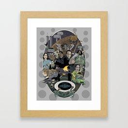 The Men In Black  Framed Art Print