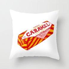 Caramel Wafer pen drawing Throw Pillow