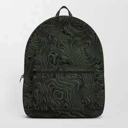 Green Silk Moire Pattern Backpack