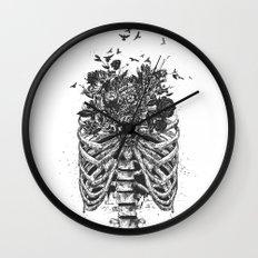 New life (b&w) Wall Clock