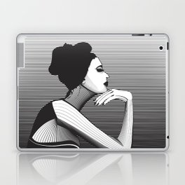 Black and White Female Laptop & iPad Skin
