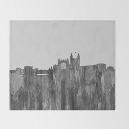 Bath, England Skyline - Navaho B&W Throw Blanket