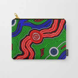 Authentic Aboriginal Art -The Inland Rail 2 Carry-All Pouch