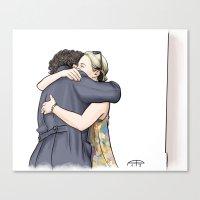 hug Canvas Prints featuring Hug by Alessia Pelonzi