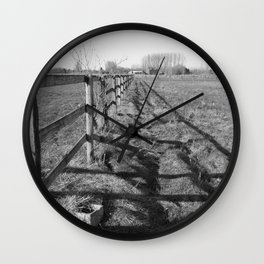 Field and Barrier Wall Clock