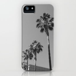 Palm Trees in Black & White iPhone Case