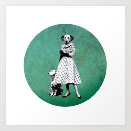 Two dalmatians - humor Art Print