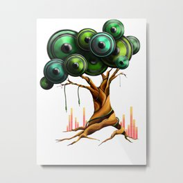 Tree of Music Metal Print