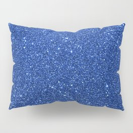 Cobalt Blue Glitter Pillow Sham