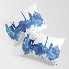 Kyiv Ukraine Skyline Blue Pillow Sham