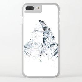 MATTERHORN MOUNTAINSPLASH grey Clear iPhone Case