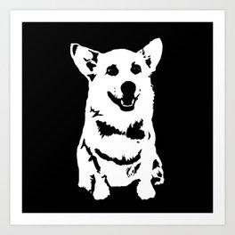 CORGI PET DOG Art Print