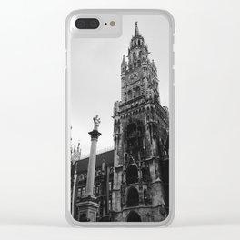Munich Clock Tower Clear iPhone Case