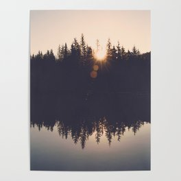 Wooded Lake Reflection  - Nature Photography Poster