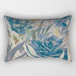 vintage asian floral Rectangular Pillow