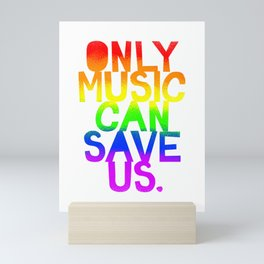 Only Music Can Save Us! Slim Fit T-Shirt Mini Art Print