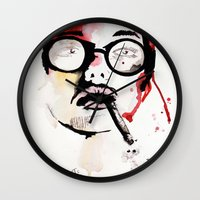 gemma correll Wall Clocks featuring Gemma. by Stephanie June Ellis