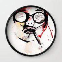 gemma Wall Clocks featuring Gemma. by Stephanie June Ellis