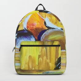 Colorful Mandarin Duck Floating on the water Backpack