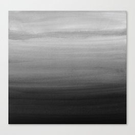 Touching Black Gray White Watercolor Abstract #1 #painting #decor #art #society6 Canvas Print