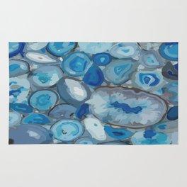 Ivanna Gogh blue quartz geodes surplus Rug