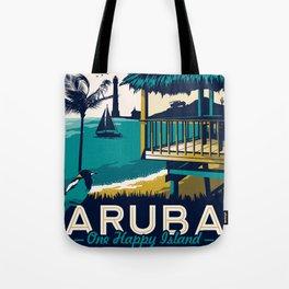 aruba vintage travel poster Tote Bag