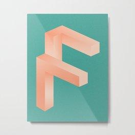 Futuristic F Metal Print