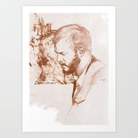 bon iver Art Prints featuring Bon Iver (Justin Vernon) by ChrisGreavesCreative