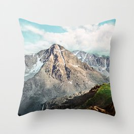 Mount Of The Holy Cross - Rocky Mountains - 1900 Photochrom Throw Pillow