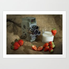 Sekonic and Strawberries Art Print