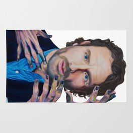 ANDREW LINCOLN aka 'RICK GRIMES'2015 71cm x 49cm Prismacolor & Mixed Media Rug